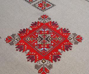 cross stitch, cross-stitch, and decor image