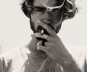 smoke, beard, and man image
