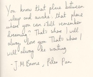 quote, peter pan, and love image