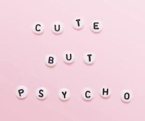 Psycho, cute, and pink image
