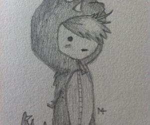boy, dinosaur, and manga image