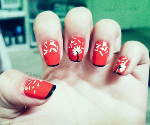 nails, tbt, and red image
