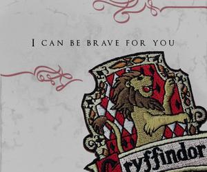 brave, gryffindor, and harry potter image