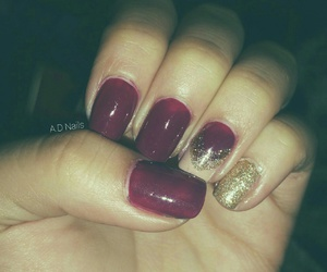 fall, glitter, and maroon image