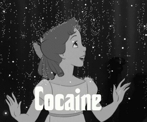 cocaine, disney, and drugs image