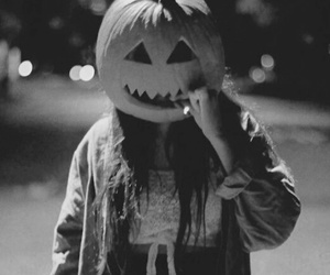 Halloween, girl, and pumpkin image