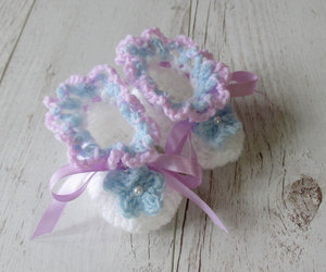 etsy, baby booties, and baby girl booties image