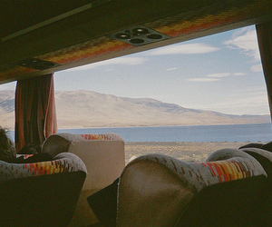 travel, bus, and mountains image