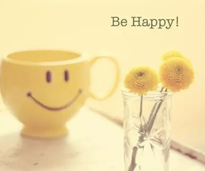 happy, flowers, and smile image