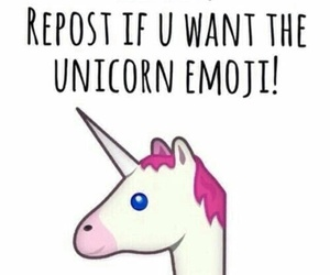 unicorn, emoji, and repost image