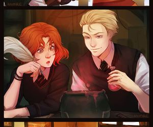 harry potter, rose weasley, and scorpius malfoy image