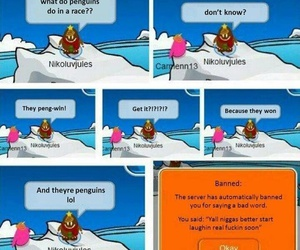 funny, club penguin, and lmao image