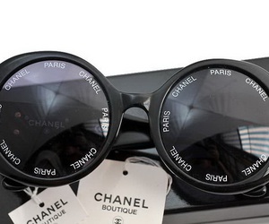 chanel, chanel sunglasses, and karllagerfield image