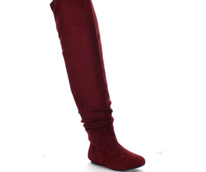 burgundy, fall, and over the knee image