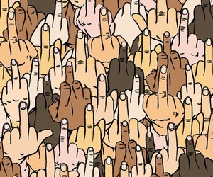 middle finger and pale image