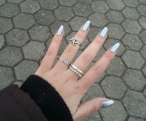 nails, nagellack, and ringe image