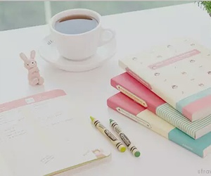 pink, book, and notebook image