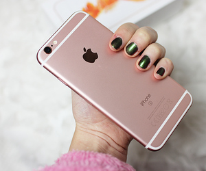 girl, phone, and pink image