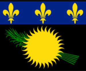 flag and guadeloupe image