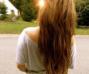 girl, holiday, and long hair image