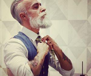 man, tattoo, and beard image