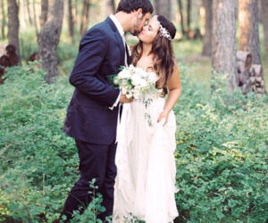 dress, marriage, and wedding image