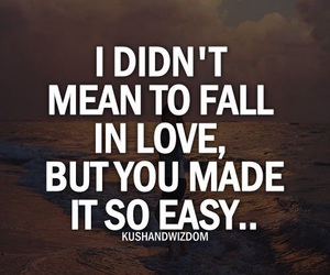 love, quote, and fall in love image
