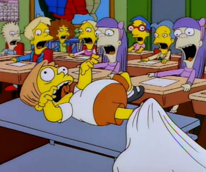 the simpsons and martin prince image
