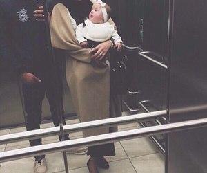 couple, hijab, and baby image