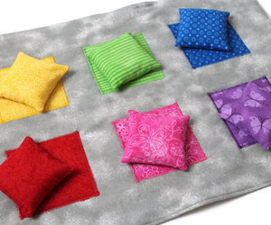 bean bags, bright, and childrens toy image