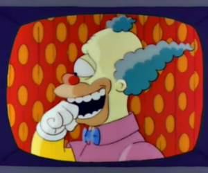 Krusty the Clown and the simpsons image