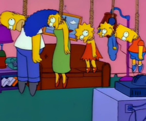 simpsons, the simpsons, and suicide image