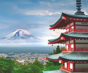 japan, mountains, and asia image