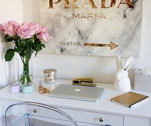 Prada, flowers, and gold image
