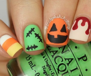 nails, Halloween, and candy corn image