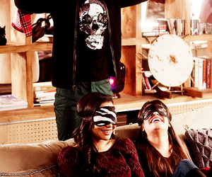 glee, rachel berry, and santana lopez image