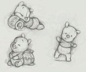 drawing, disney, and honey image