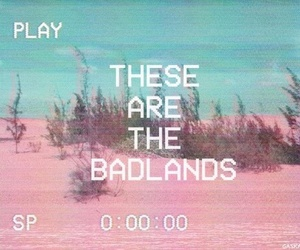halsey, badlands, and pink image