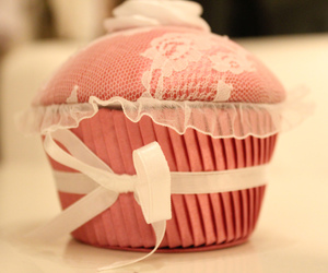 blonde, cupcake, and decoration image