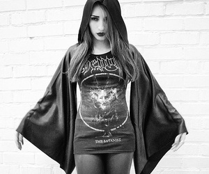 666, witch, and blackmetal image