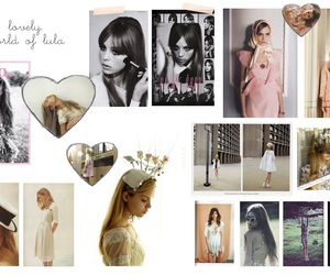 Collage, girl, and hearts image