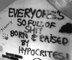hypocrite, quote, and grunge image
