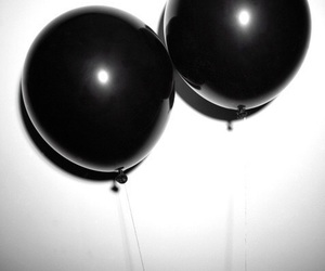 black, balloons, and grunge image