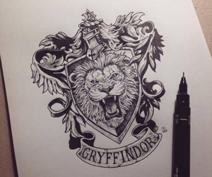 art, drawing, and gryffindor image