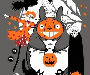totoro, anime, and Halloween image