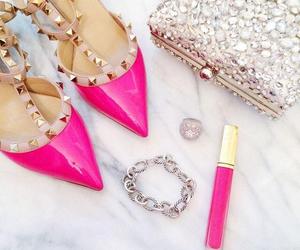 bag, bracelet, and high heels image