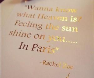 paris, quotes, and sun image
