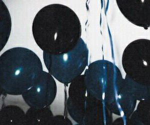 balloons, blue, and grunge image