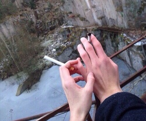cigarette, hands, and couple image