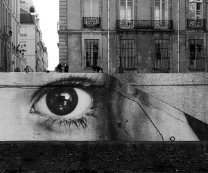 eye, black and white, and art image